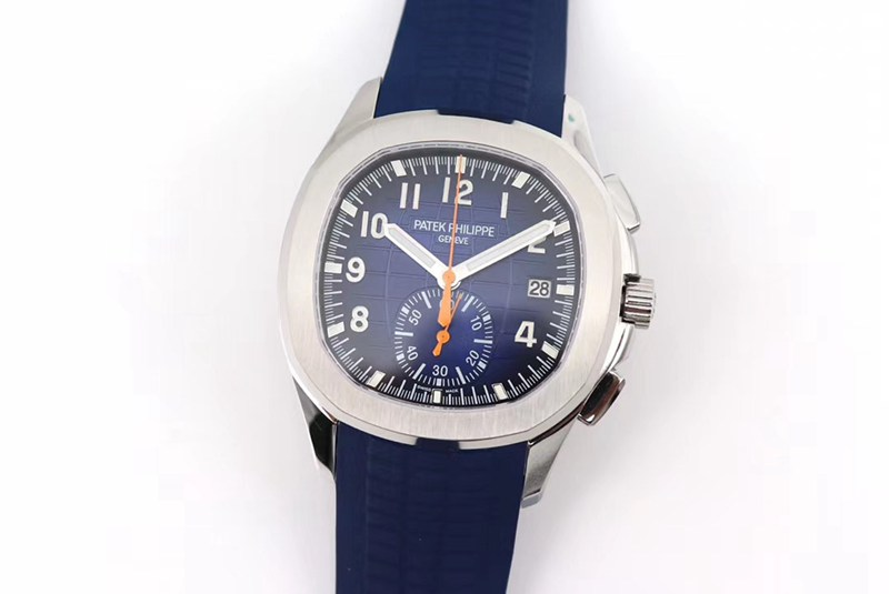 OM厂顶级高仿百达翡丽手雷计时腕表全新5968A-001一体机芯手表 蓝色