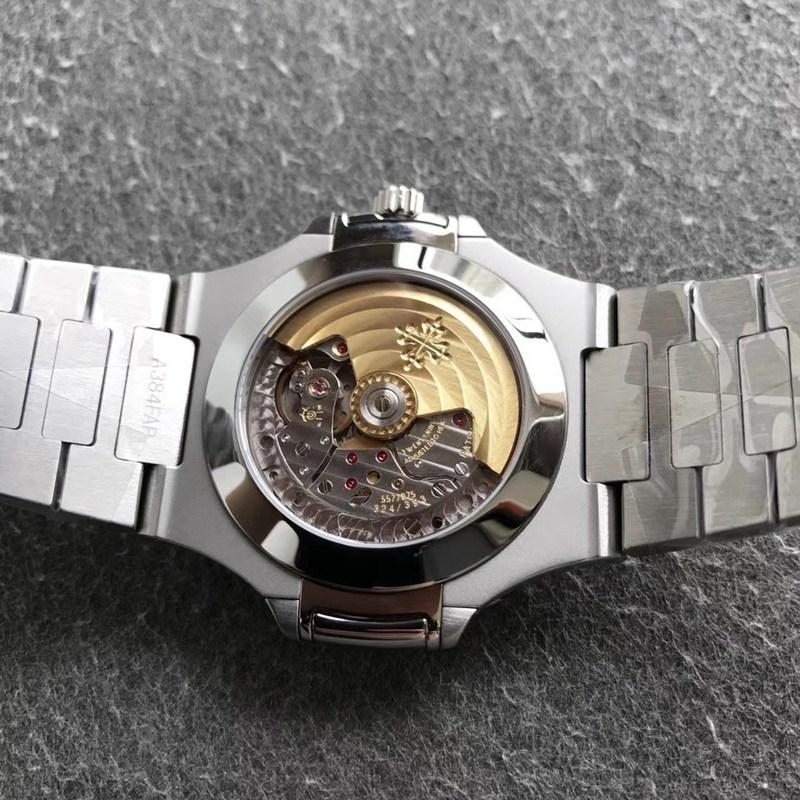 V9百达翡丽顶级复刻鹦鹉螺5726男士机械手表黑色表盘