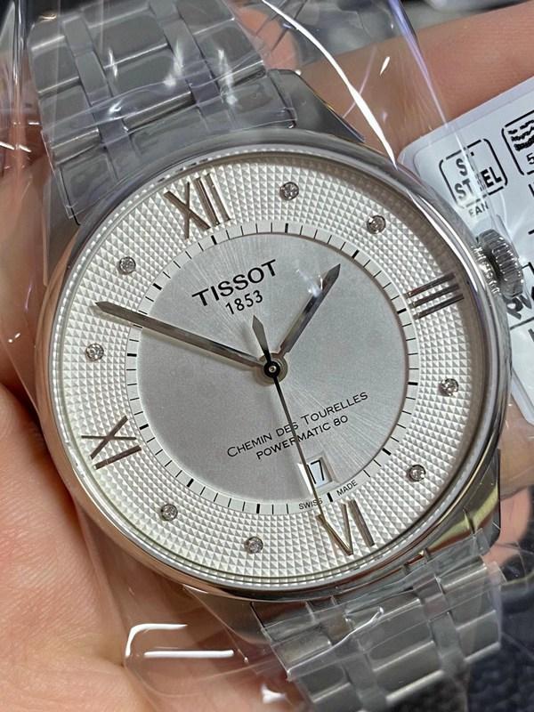 天梭杜鲁尔系列原单正品80小时储存动力t099男士机械手表白盘