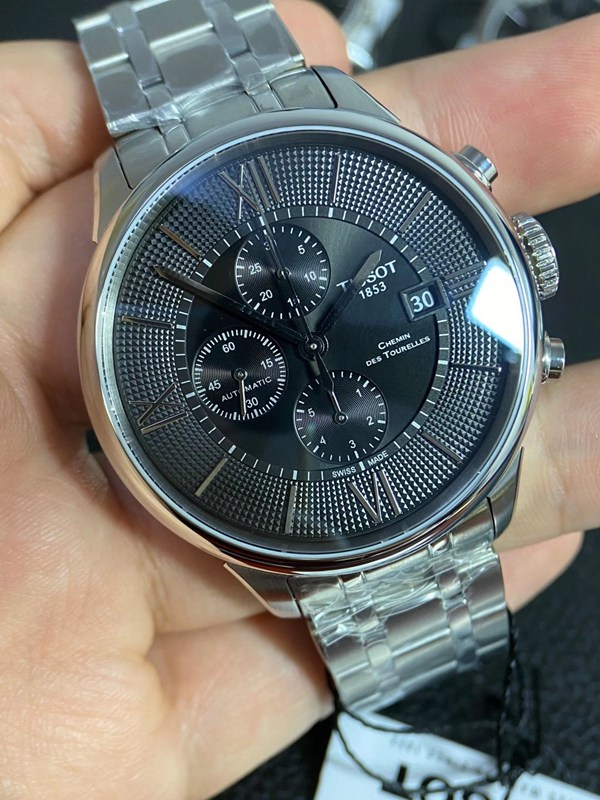 正品天梭T099六针计时男表80小时动力储存44表径机械手表