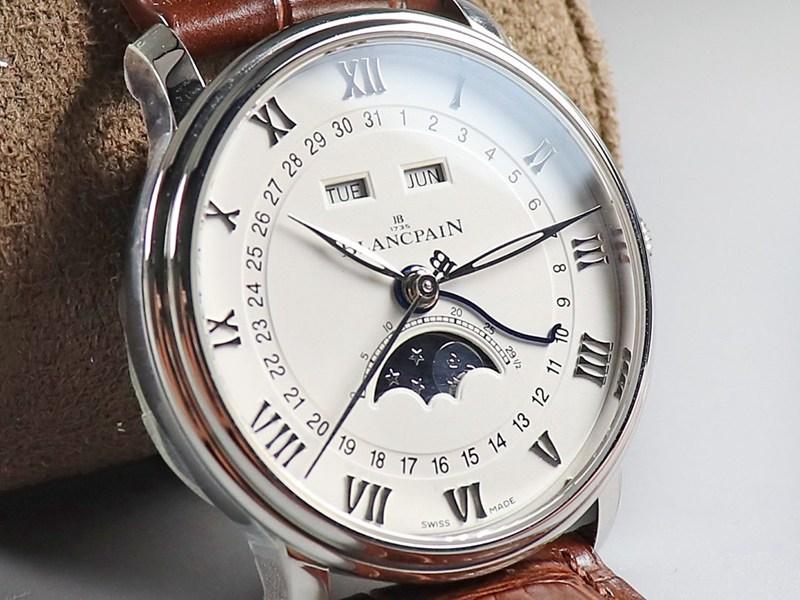 OM厂宝珀高仿手表villeret经典6654全新V3升级版比V2薄0.6mm白色表盘