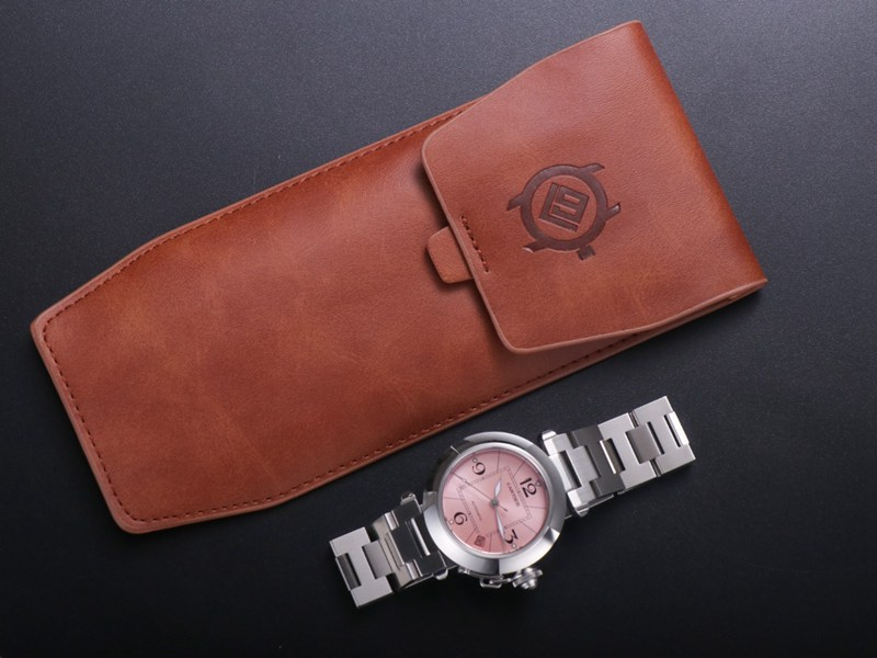 V9卡地亚精仿手表帕莎系列W31074M7女表机械粉色表盘
