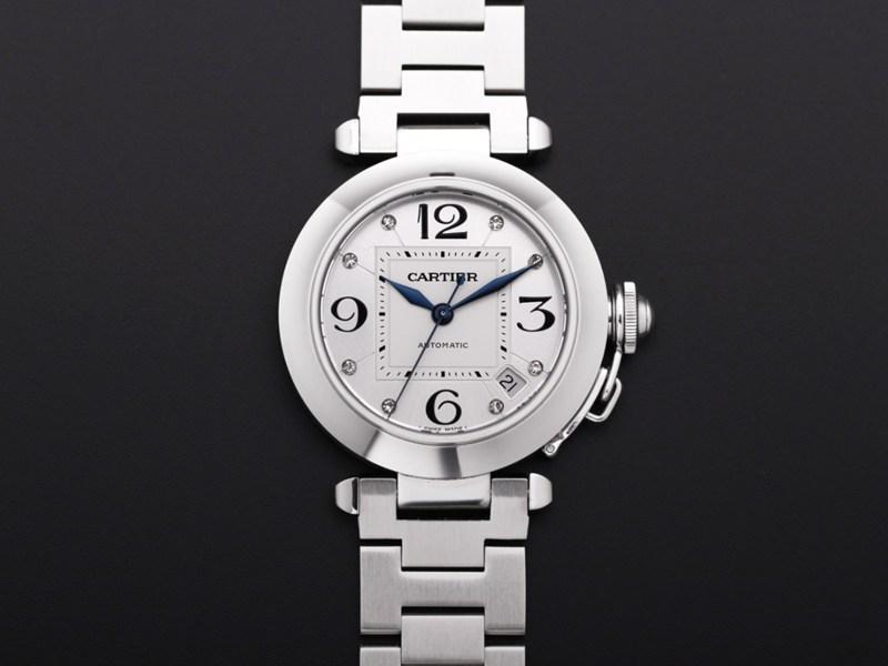 V9高仿手表卡地亚帕莎系列W31074M7女士自动机械白盘