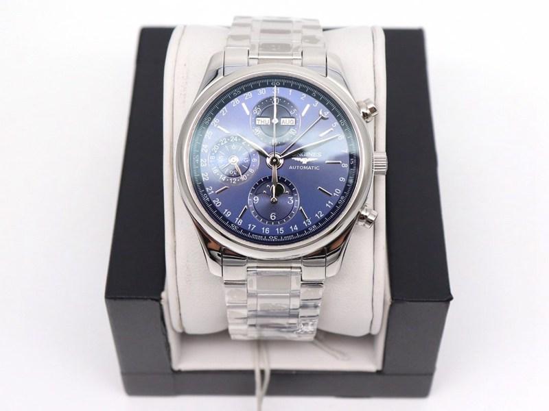 GL厂浪琴复刻手表名匠八针月相7751蓝盘钢带款