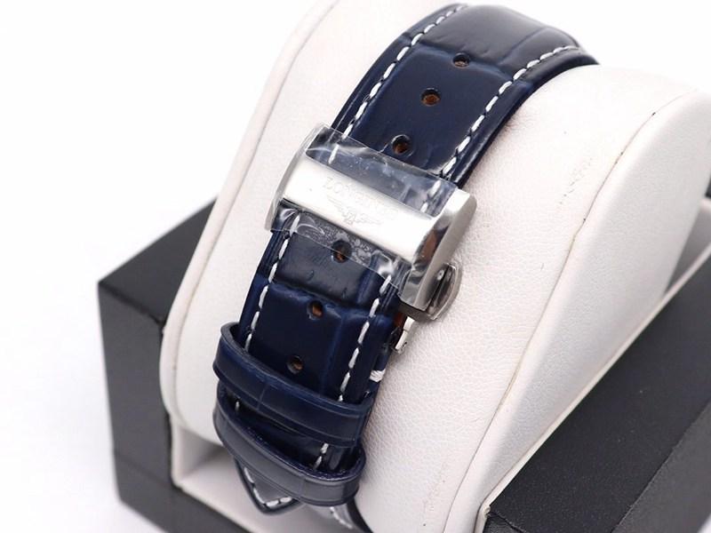 GL浪琴高仿手表名匠八针月相7751蓝盘皮带款