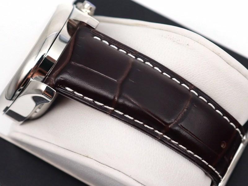 GL浪琴精仿手表名匠八针月相7751白盘皮带款
