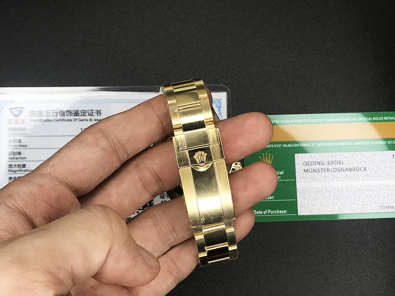 n厂复刻劳力士手表顶级4130迪通拿绿金迪18k包金