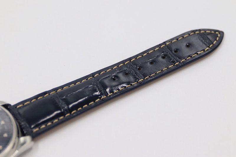GS浪琴复刻手表名匠系列月相腕表简洁蓝盘