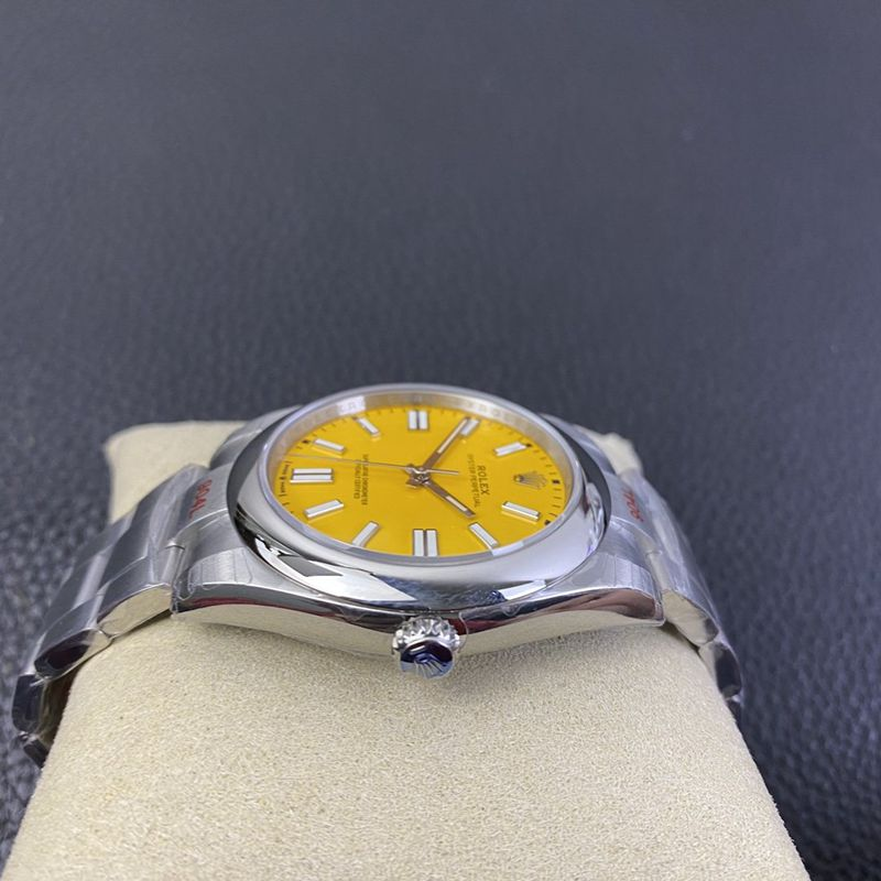 劳力士2020新款复刻手表蚝式恒动型黄盘3230机芯