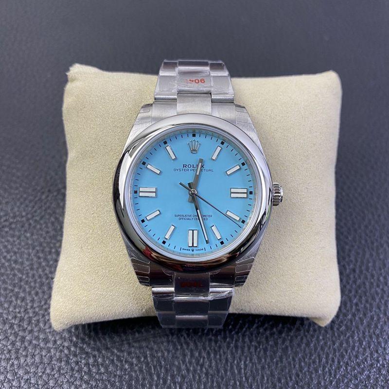 劳力士2020新款复刻手表蚝式恒动型蒂芙尼蓝盘3230机芯
