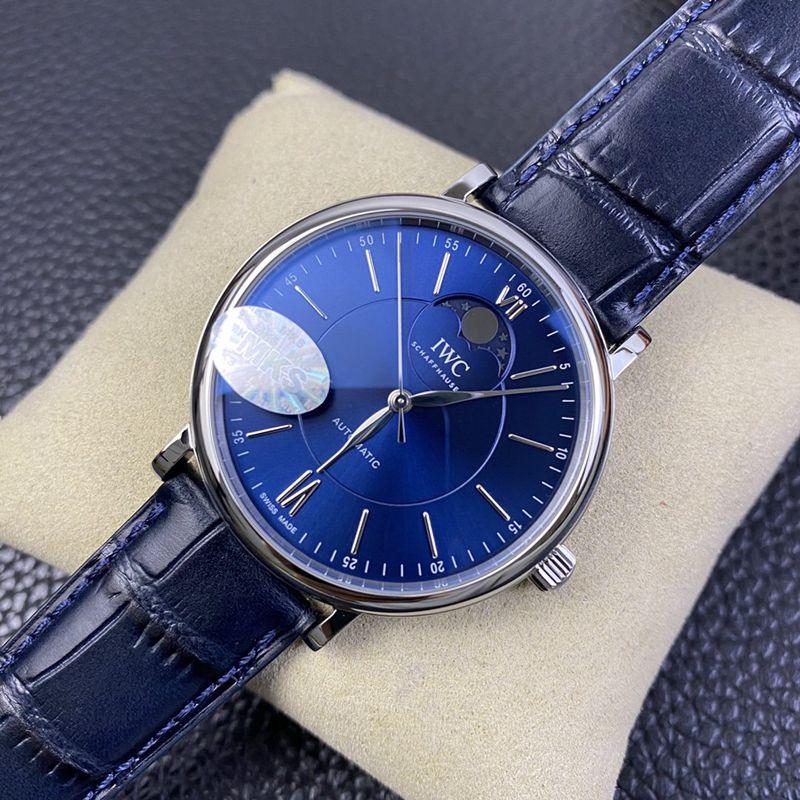 万国高仿手表波涛菲诺系列月相自动腕表