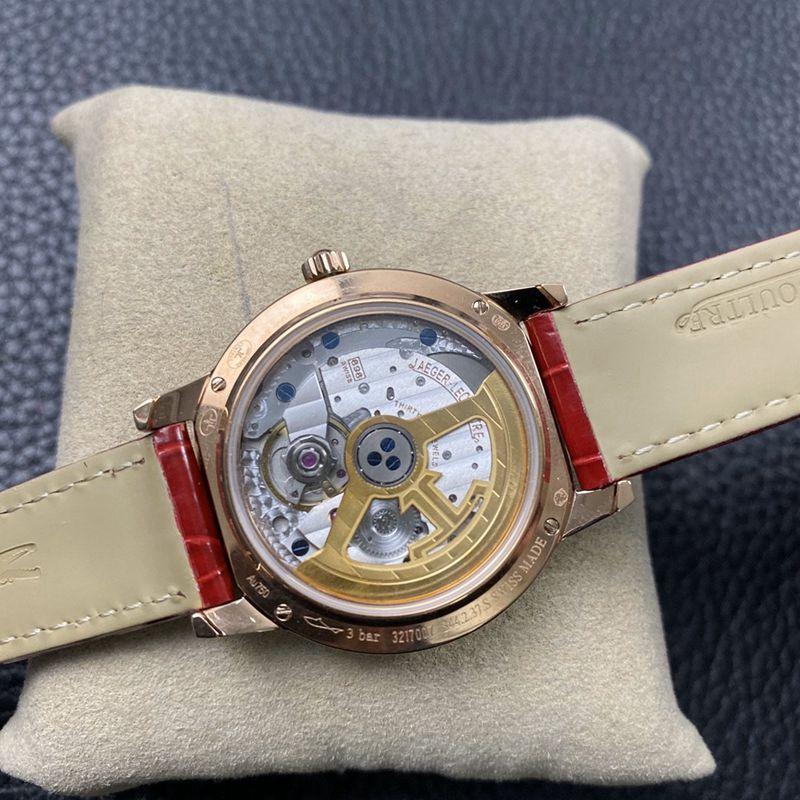 积家复刻手表约会系列女款玫瑰金腕表