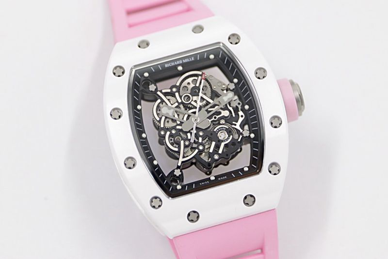 """理查德米全勒新RM-055进白口色陶瓷""""V2""""升级版复刻手表"""