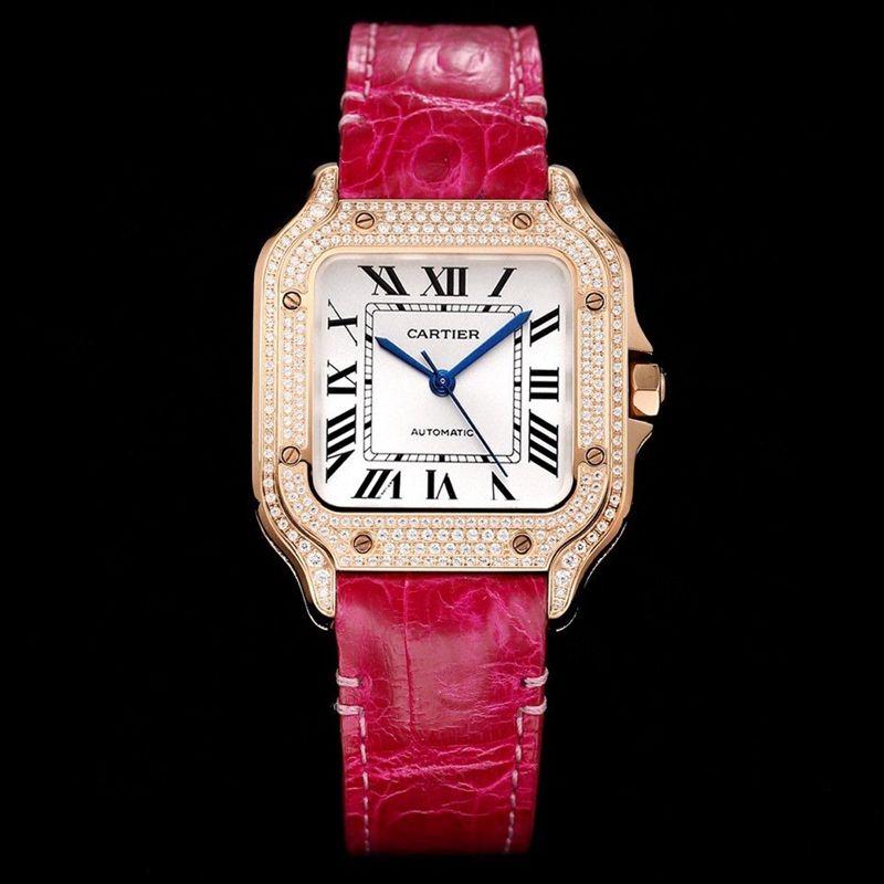 卡地亚Santos腕表中号表款复刻手表