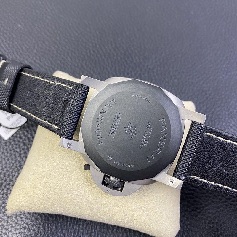 """沛纳海复刻手表pam1662表径44MM""""烟灰""""喷砂钛壳"""