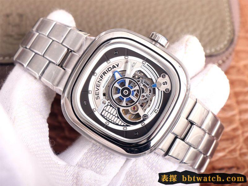 SEVENFRIDAY七个星期五复刻手表自动机械男表瑞士钢带大表盘S1/01M
