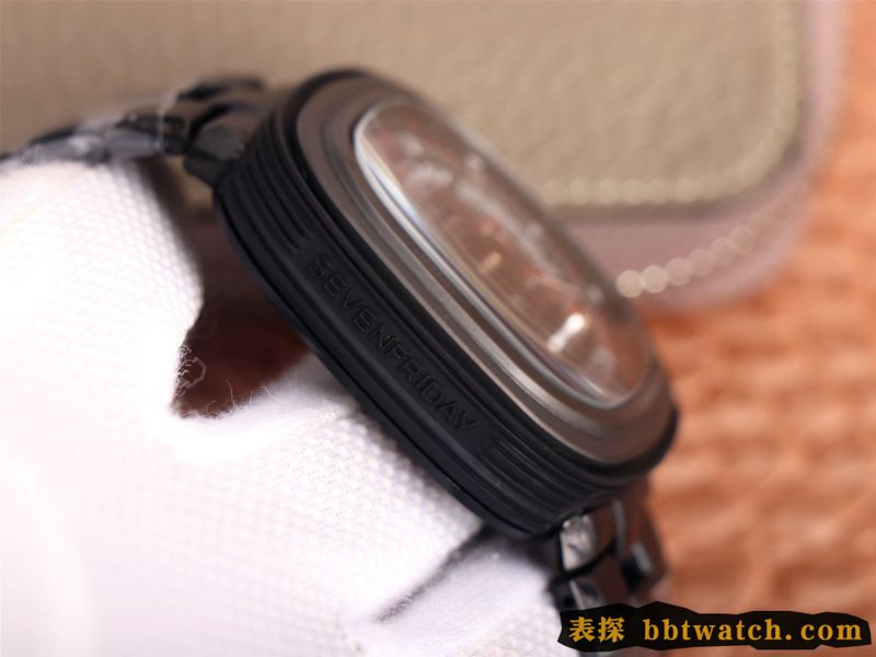 七个星期五复刻手表全黑超酷镂空SEVENFRIDAY/自动机械时尚男表瑞士钢带大表盘