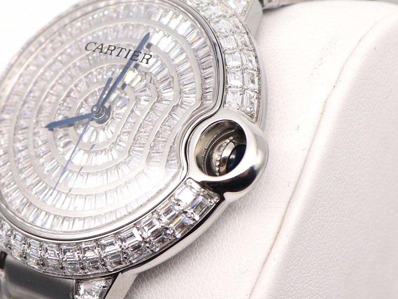 卡地亚高仿手表Cartier蓝气球方钻满天星手表