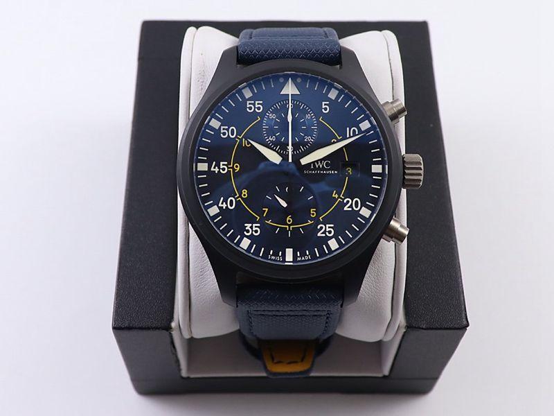 万国高仿手表飞行员系列腕表TOP GUN 海军空战部队计时腕表