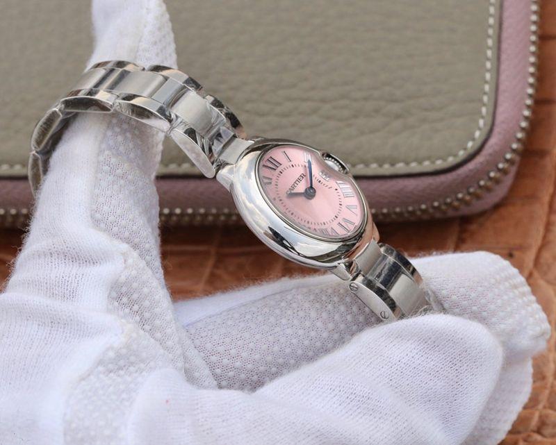 卡地亚精仿手表蓝气球小号粉面腕表