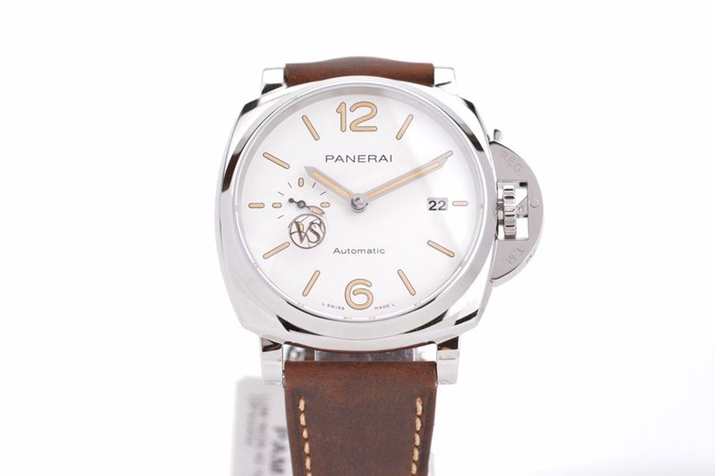 沛纳海复刻手表庐米诺杜尔PAM1046经典三文治米色表盘腕表