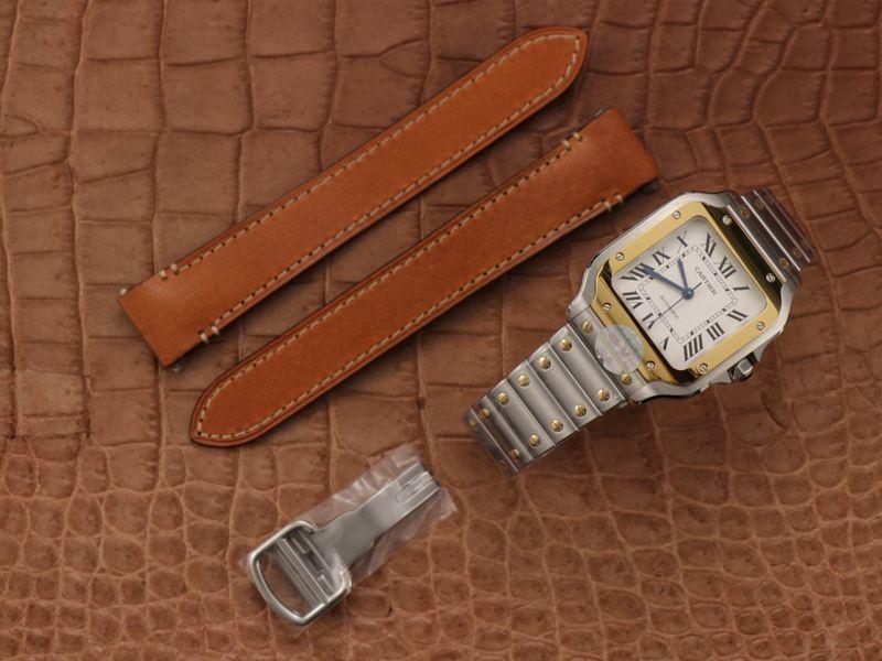 卡地亚高仿手表新款山度士腕表