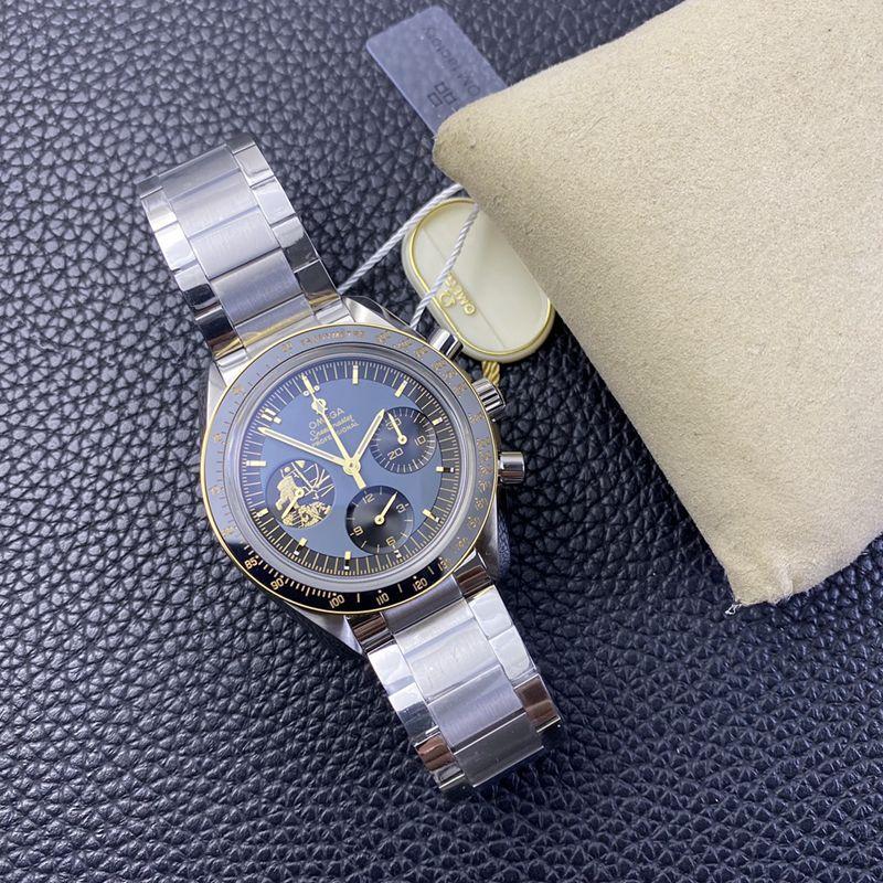 OM欧米茄高仿手表超霸阿波罗11号霸气登场男士机械腕表