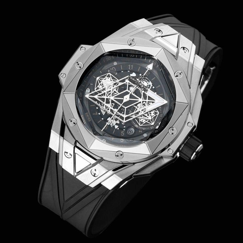 Hublot宇舶高仿手表全新BigBangSangBleuII刺青男士机械腕表