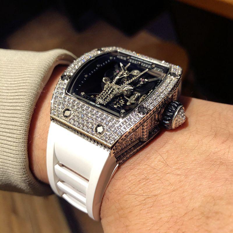 理查徳米勒高仿手表RichardMille满天星系列男士机械腕表