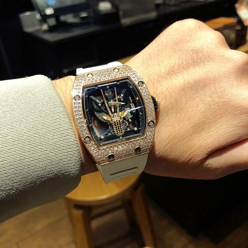 理查徳米勒精仿手表RichardMille满天星系列男士机械腕表