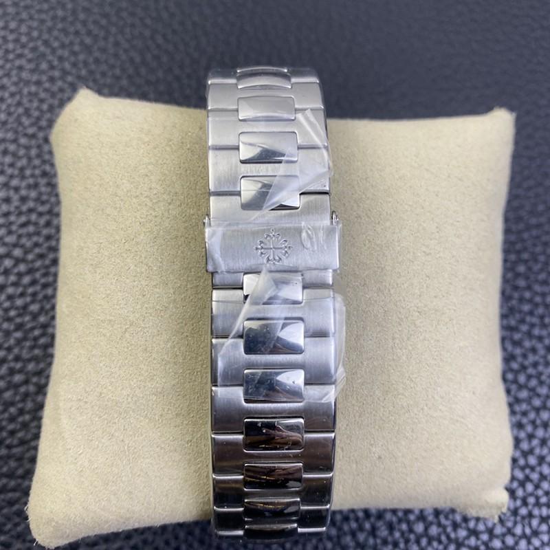 3K顶级百达翡丽复刻手表鹦鹉螺324SC超薄机械白钢白盘