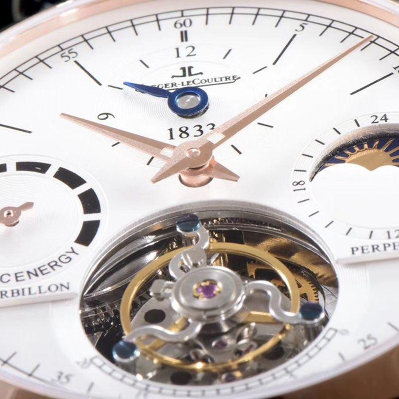 积家复刻手表大师系列Q5046520自动真陀飞轮男士腕表