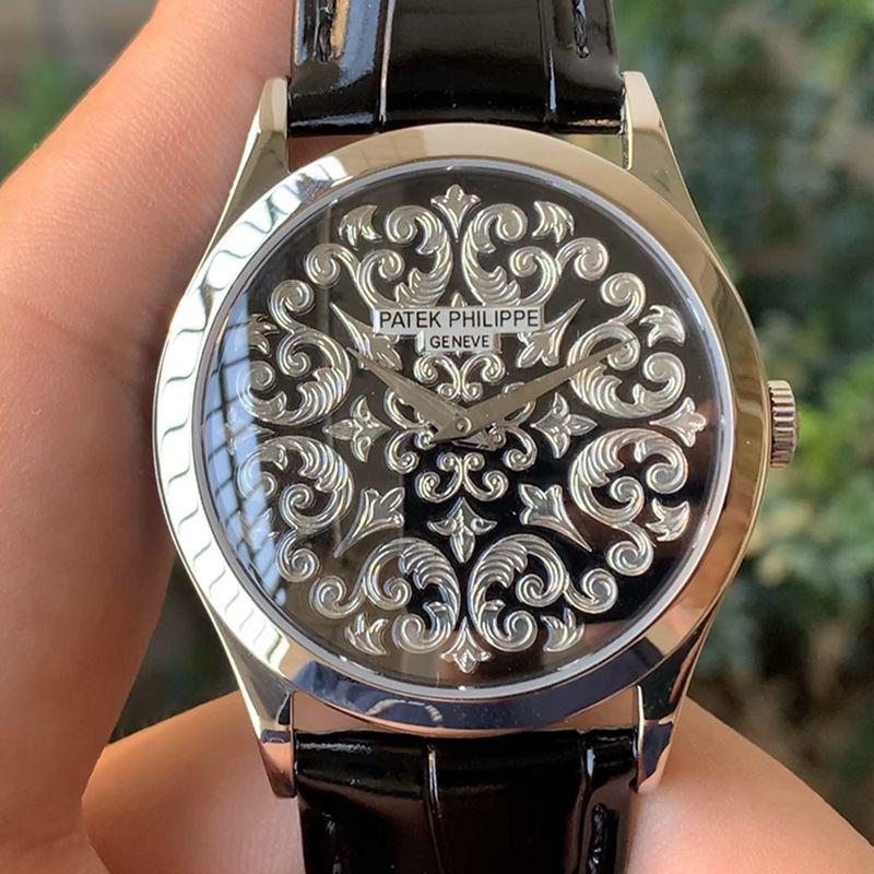 百达翡丽精仿手表5088系列雕花男士机械腕表