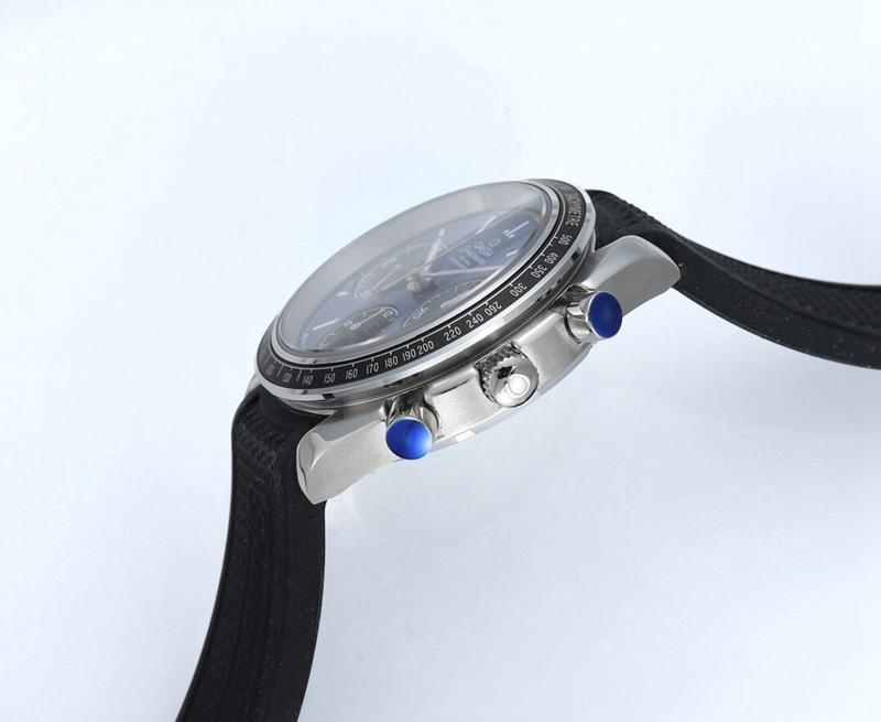 欧米茄超霸系列复刻326.32.40.50.06.001多功能计时手表蓝盘