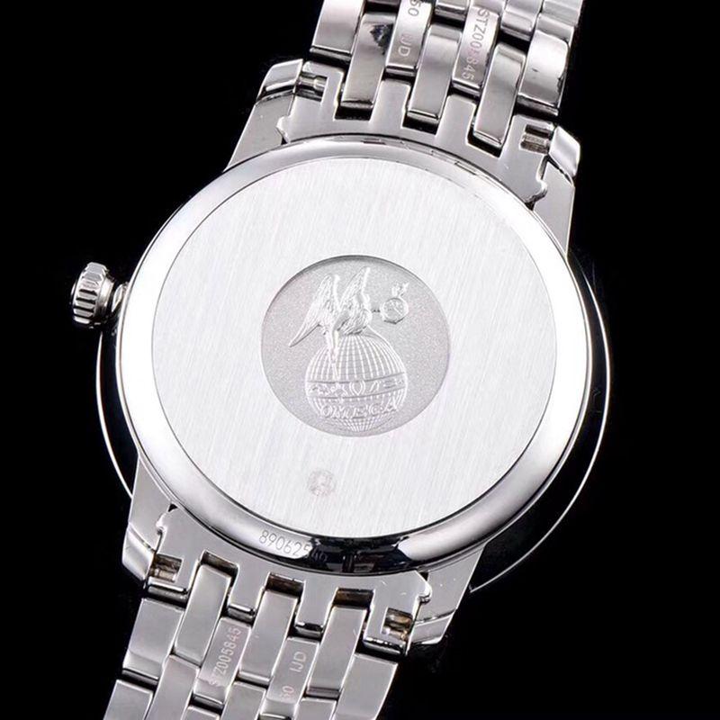 复刻欧米茄手表碟飞系列男士机械超薄手表气质灰白钢