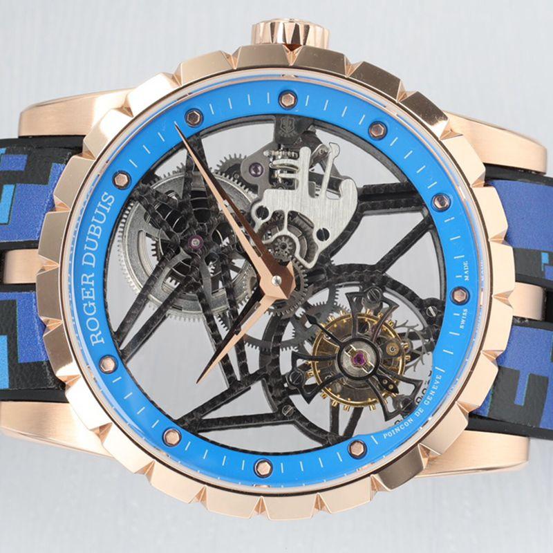 罗杰杜彼顶级高仿手表EXCALIBUR王者系列男士陀飞轮腕表
