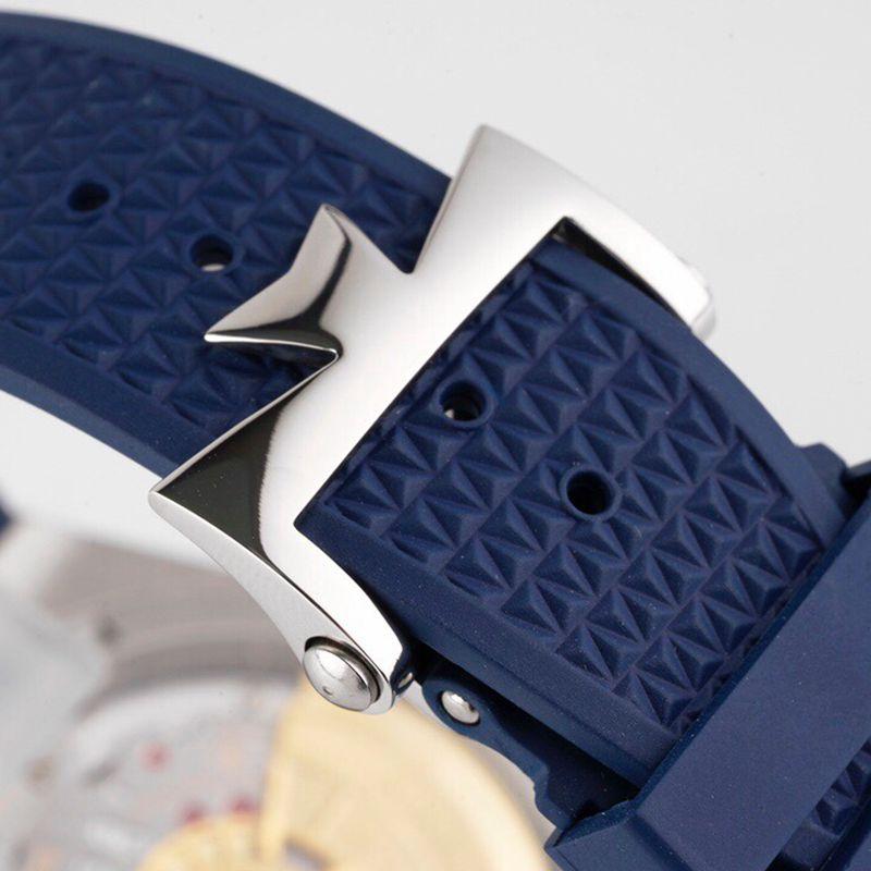 江诗丹顿顶级高仿手表纵横四海系列男士机械蓝面腕表