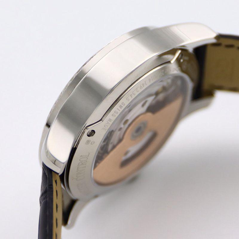 积家大师顶级精仿手表1662451系列自动真陀飞轮男士钻石黑盘腕表