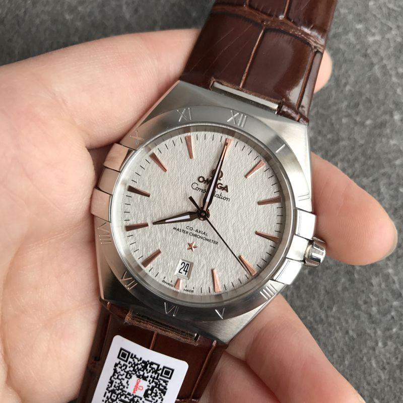 欧米茄顶级复刻手表第五代星座系列男士机械腕表