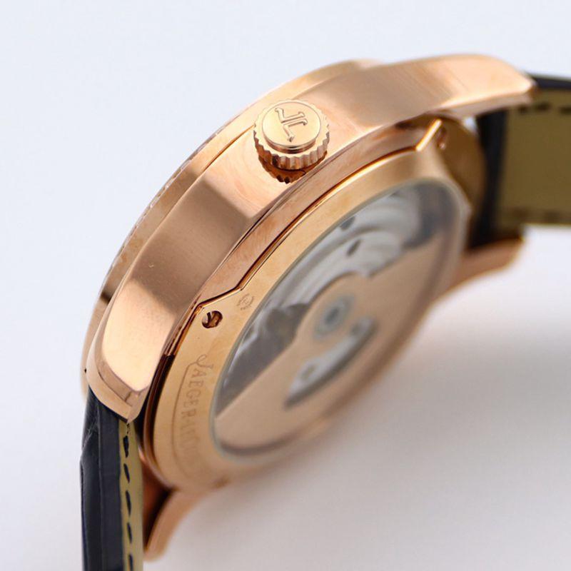 积家大师顶级精仿手表1662451系列自动真陀飞轮男士钻石金表黑盘腕表