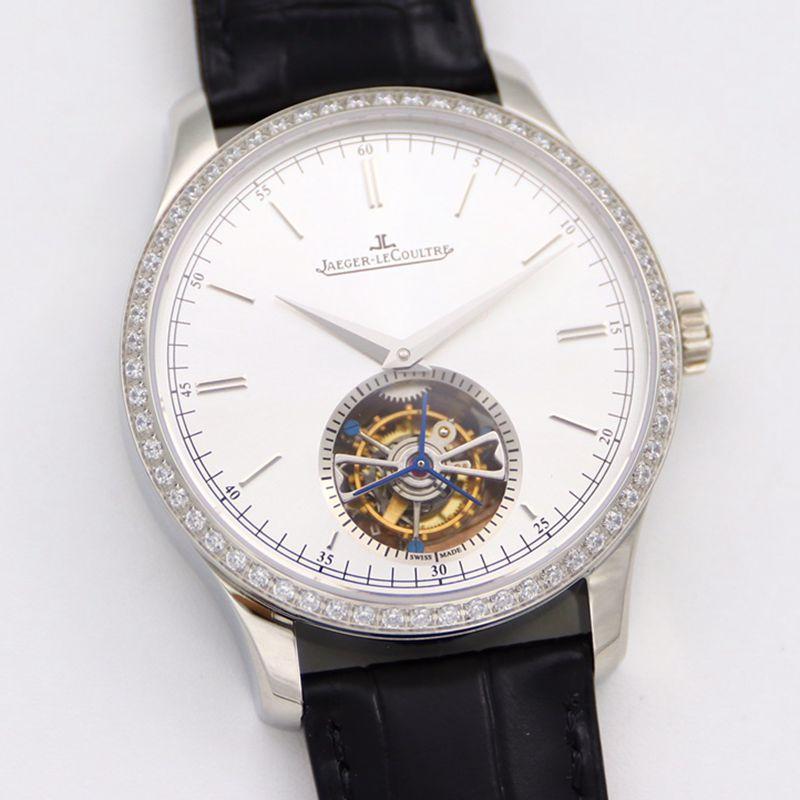 积家大师顶级精仿手表1662451系列自动真陀飞轮男士钻石白盘腕表