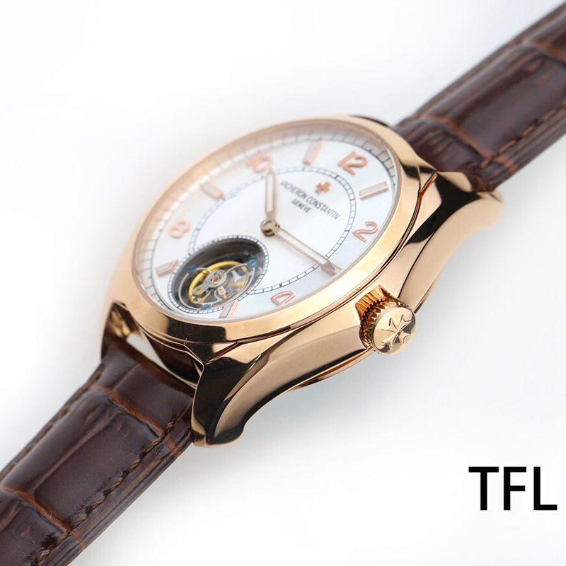 江诗丹顿顶级高仿手表伍陆之型系列全自动陀飞轮男士腕表