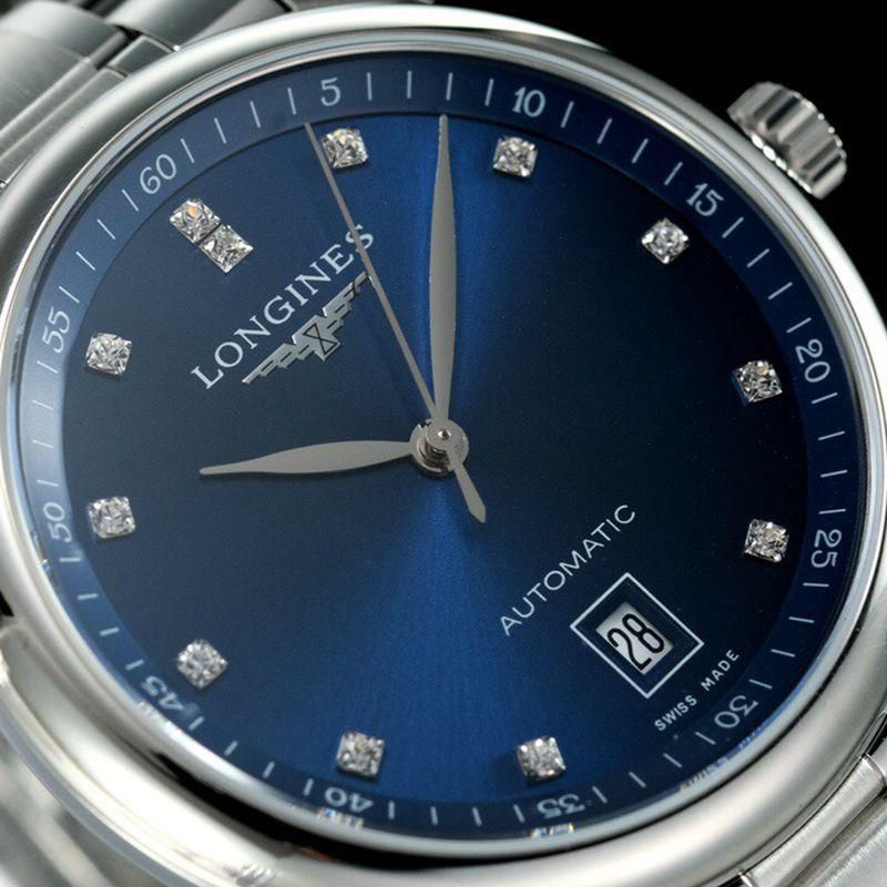 浪琴顶级高仿手表名匠系列男士机械蓝面腕表