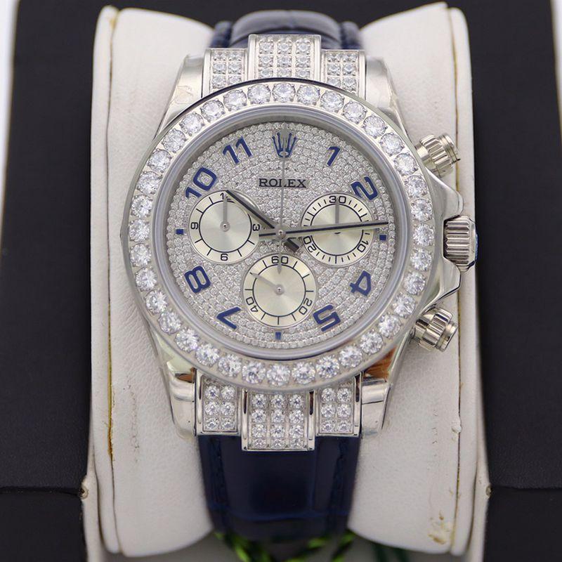 劳力士顶级精仿手表迪通拿系列密镶116599满天星皮带男士机械腕表