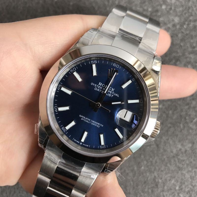 劳力士高仿手表日志系列蓝面男士机械腕表