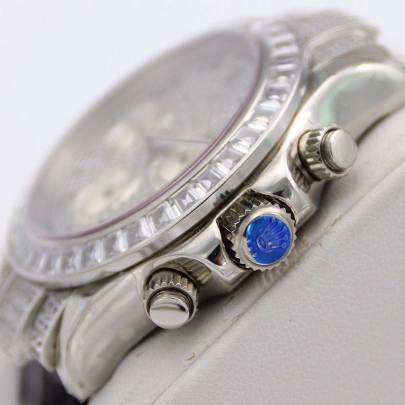 劳力士顶级复刻手表迪通拿系列密镶116599满天星皮带男士腕表