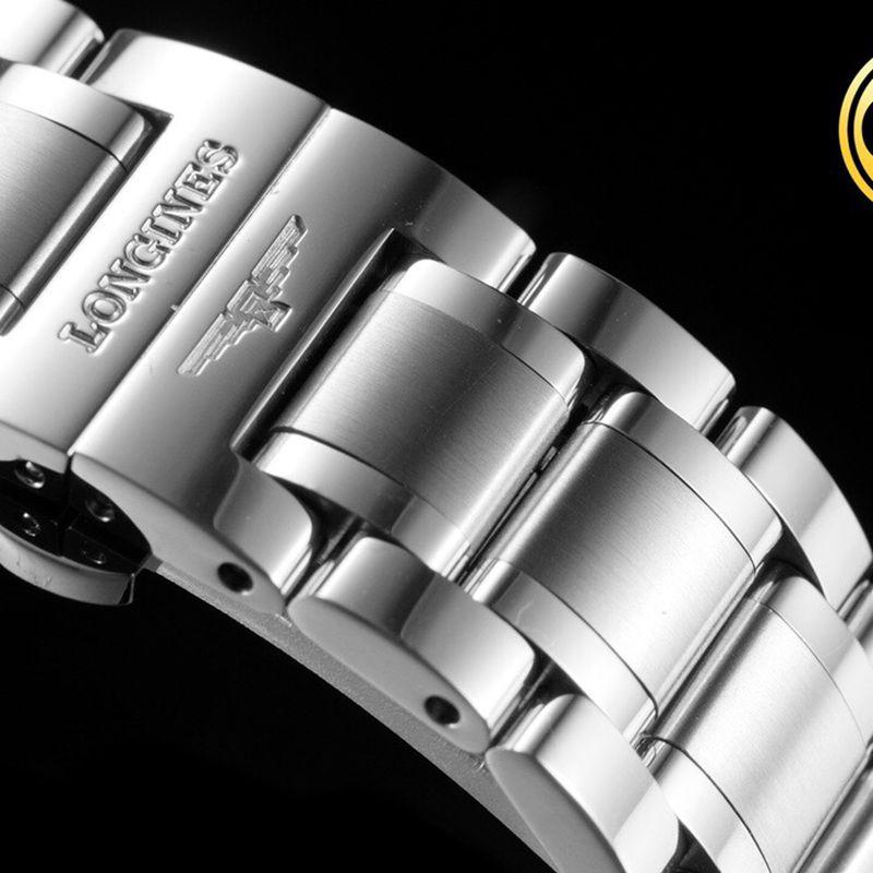 浪琴顶级精仿手表名匠系列男士机械白面腕表