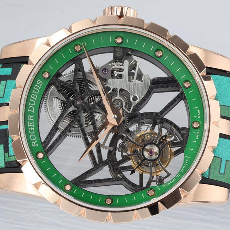 罗杰杜彼顶级精仿手表EXCALIBUR王者系列男士陀飞轮腕表