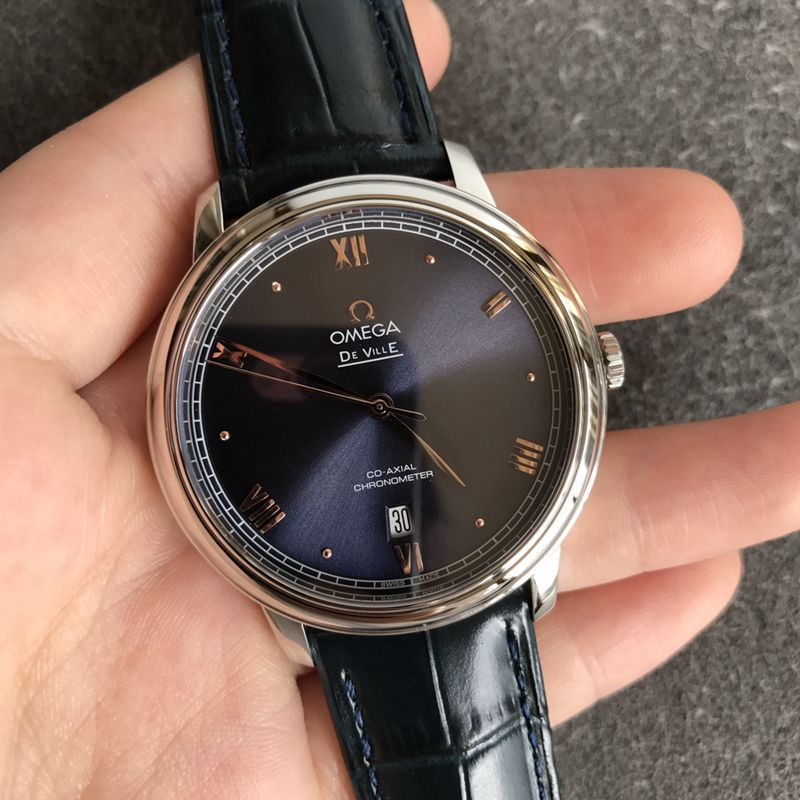 欧米茄顶级复刻手表蝶飞系列黑面男士机械腕表