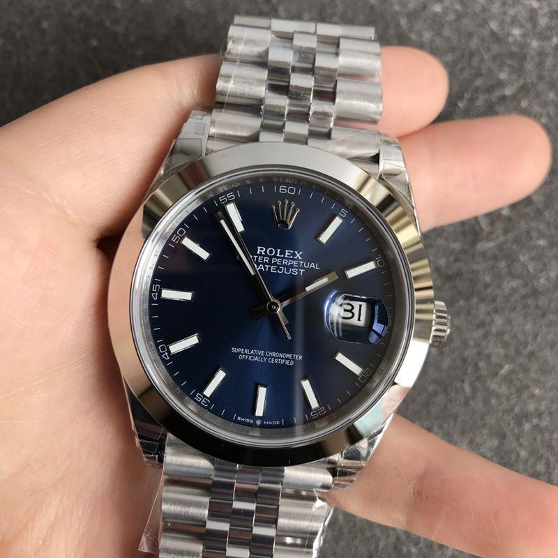 劳力士顶级复刻手表日志蓝面系列男士机械腕表